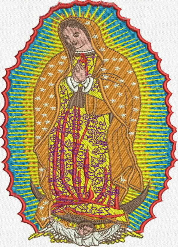 bordado virgen de guadalupe