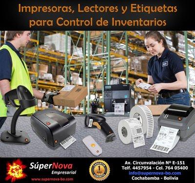 IMPRESORAS, LECTORES Y ETIQUETAS PARA CONTROL DE INVENTARIOS